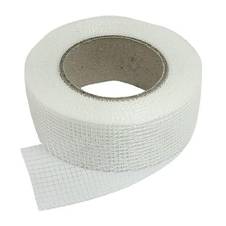 Cinta blanca eDealMax auto-adhesivo de la fibra de vidrio de malla Conjunto para Grietas Agujeros - - Amazon.com