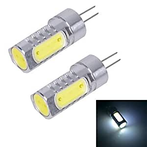 JMT-120 G4-6D-6W 400lm 6000K Cool White Light LED Bi-Pin Lamp (DC 12V) 2 PCS