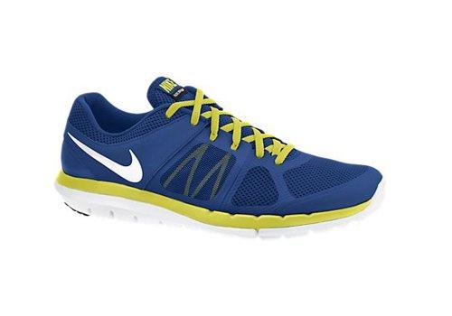Nike Flex 2014 Rn 642791-017 Herren Sportschuhe Profondo Blu Reale / Veleno Verde / Bianco