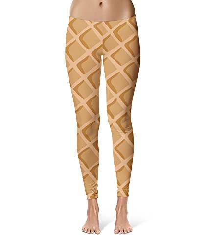 Icecream Waffle Cone Sport Leggings - Full Length, Mid/High Waist for $<!--$35.99-->