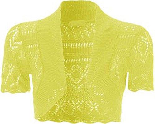 42 Top Shrug Cardigans Momofashions Crochet Ladies 36 Bolero Jaune tricot qPnXB8WXw
