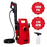 Myatt 2000 PSI 1.60 GPM Electric Pressure Washer, Electric Power Washer with 2 Quick-Connect Spray Tips, Portable Car Wash Machine,Efficient Cleaning Assistant and Helper for Household Cleaning Tasks
