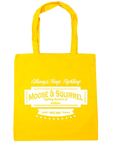 Family Moose HippoWarehouse Beach Tote Squirrel 2005 amp; x38cm Bag Yellow 10 Shopping 42cm Gym Business Since litres UtwqdFw