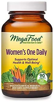 MegaFood, Women's One Daily, Daily Multivitamin and Mineral Dietary Supplement with Vitamins C, D, Folate and Iron, Non-GMO, Vegetarian, 90 Tablets