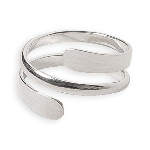 Toe Ring   Pipeline .925 Sterling Silver Adjustable Ring   Attire For Your Toes   Made In USA   Wrap Style ...