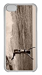 iPhone 5C Case, Personalized Custom Waves 5 for iPhone 5C PC Clear Case