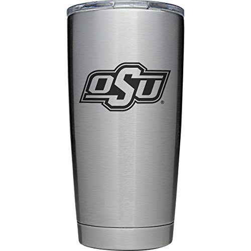 YETI Officially Licensed Collegiate Series Rambler, 20oz Tumbler with MagSlider Lid, Oklahoma State