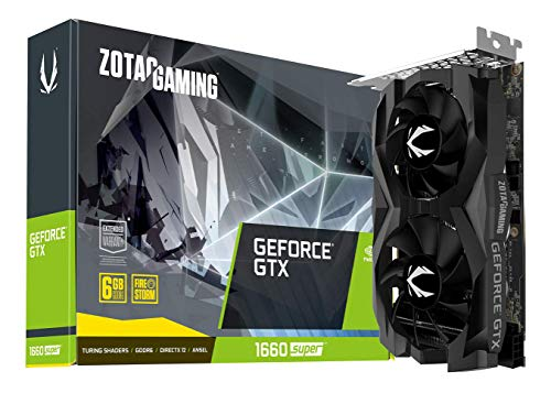 ZOTAC Gaming GeForce Super 6GB GDDR6 192-bit Gaming Graphics Card, Super Compact Geforce GTX 1660 SUPER TWIN FAN