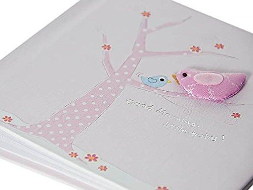 Mousehouse Gifts Rosa Babyfotoalbum Mädchen im Vogeldesign Baby Mädchen Geschenk MH-100329