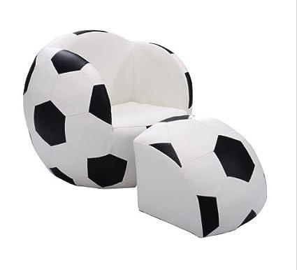 Amazon.com: Tv Chairs for Kids Soccer Ball Chair and Ottoman Set ...