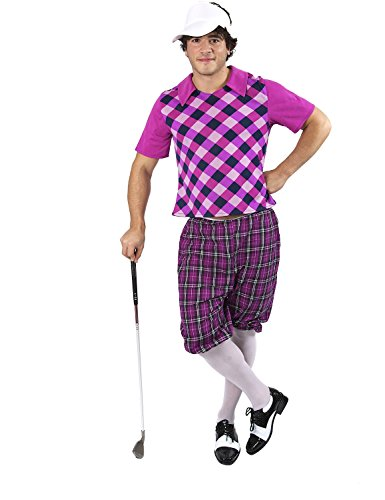 (Mens 'Pub Golf' Golfer Sports Fancy Dress Halloween)