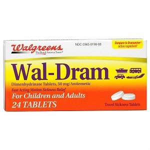 Walgreens Wal-Dram Antimetic Travel Sickness Tablets, 24 ea