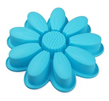 Blau Petals Platinum Silikon Kuchen Form Backen Cookies Diy Familie