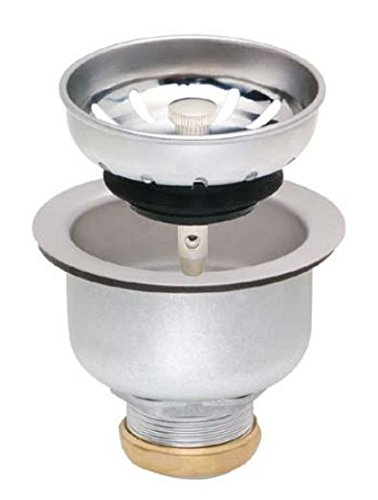 Matco-Norca SS-185B Stainless Steel Deep Double Cup Strainer, with Lock Basket