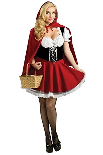 Maybest Halloween Costume Women Dress Suits Adult Cosplay Party Easter Sexy Lovely Little Red Riding Hood Masquerade Performance Clothes Little Red Riding Hood US 16