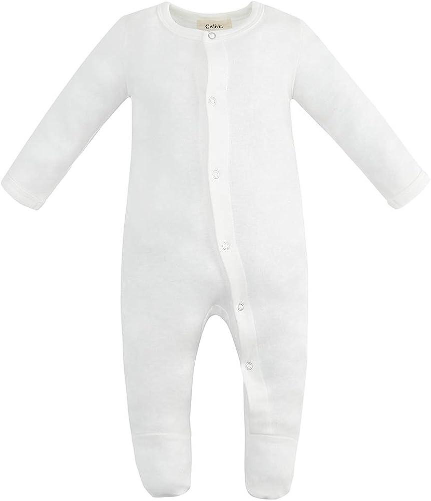 B07K6FB42D Owlivia Organic Cotton Baby Boy Girl Sleep 'N Play/Coverall, Long Sleeve (Size 0-18M) 4138UPro9AL