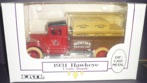 Ertl Budweiser 1931 Hawkeye Crate 1 34 Scale Diecast Bank