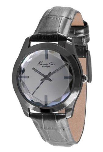 Kenneth Cole Women's Beveled Crystal Gunmetal Quartz Watch KCW2000