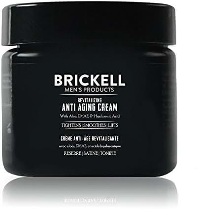 Brickell Men's Revitalizing Anti-Aging Cream For Men, Natural & Organic Anti Wrinkle Night Face Cream - 2 oz - Unscented