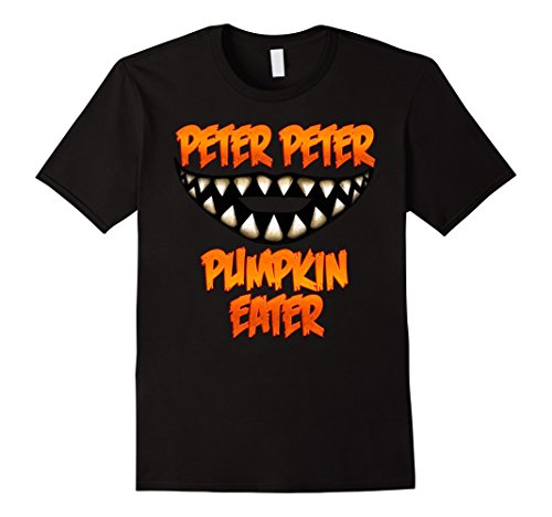 Mens Peter Peter Pumpkin Eater Couples Halloween Costume T Shirt Large Black - Good Husband And Wife Halloween Costumes