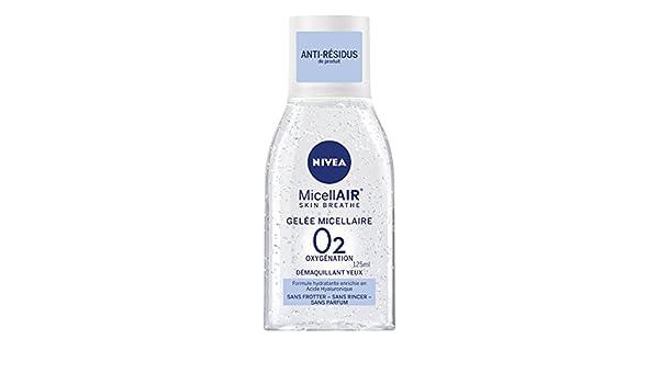 Nivea Visage micell Air Gel Desmaquillante al ácido hialurónico para ojos - - Juego de 2: Amazon.es: Belleza