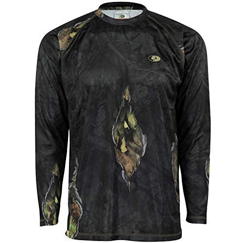Mossy Oak Mo Camo Performance Long Sleeve Tech Hunting Shirt, Eclipse, Medium