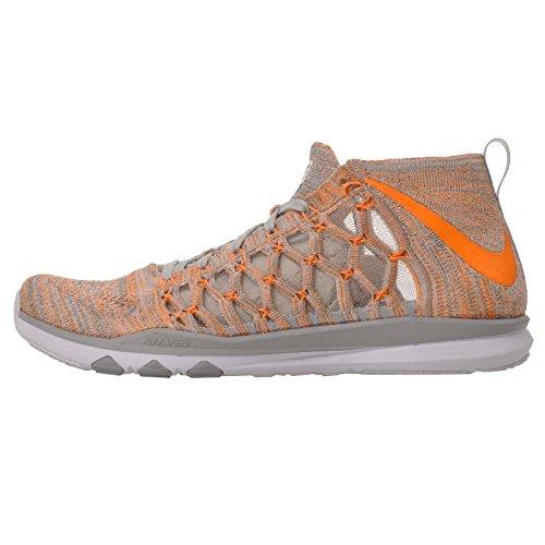 NIKE Mens Train Ultrafast Flyknit Sneaker, Pure Platinum/Bright Citrus