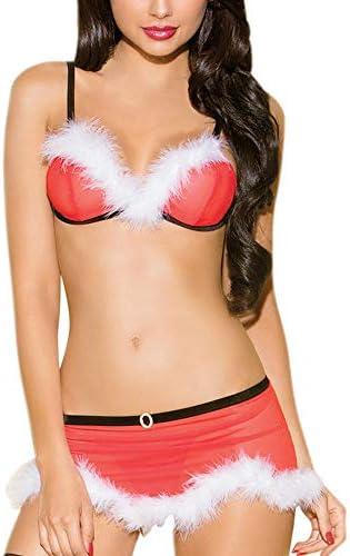 Unterwäsche für Damen,Weihnachten Sexy Bikini Set Nachtwäsche Resplend Plus Size Mode Reizwäsche Versuchung Dessous Sets Nachthemd