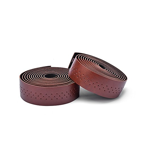 (Weanas PU Leather Road Bike Handlebar Tape Bar Tapes - 2PCS Per Set)