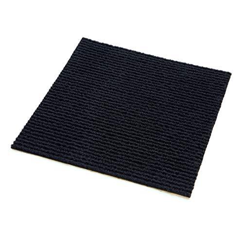 IncStores Berber Carpet Tiles, Black, 20 per pack