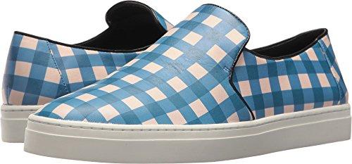 Diane Von Furstenberg Womens Boedapest Slip-on Sneaker Tegel Blauw / Zwart