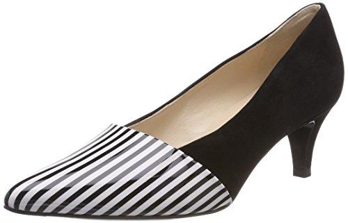 Peter Kaiser Caren, Zapatos de Tacón con Punta Cerrada para Mujer Negro (Schwarz Lines Suede 722)