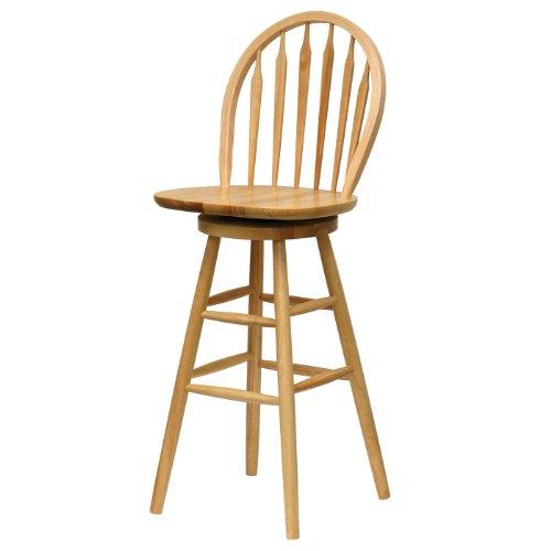 Winsome Wood 30-Inch Windsor Swivel Seat Bar Stool, ()