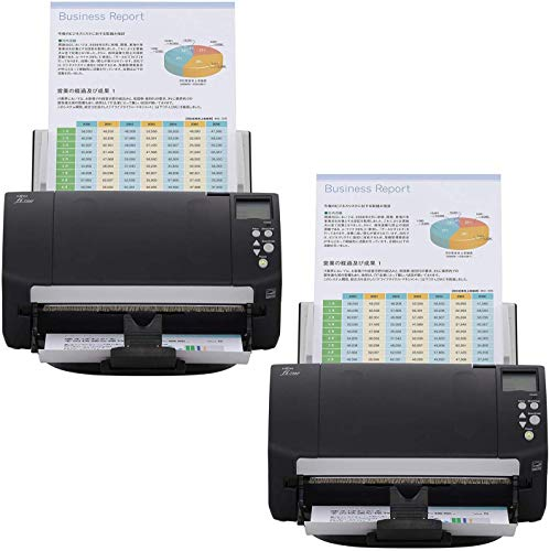 Fujitsu fi-7160 Color Duplex Document Scanner - Workgroup Series (2-Pack) (Renewed)
