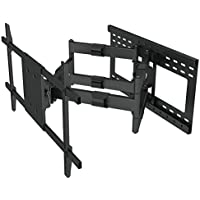 Heavy Duty Dual Arm (32 extension) Articulating Wall Mount for Samsung LG LED TV 65 70 75 80 82 with 16 to 24 stud support