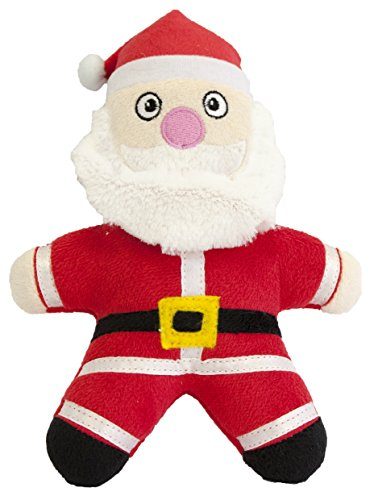 Pet Brands Christmas Santa Plush Toy with Replaceable Squeaker Dog Toy