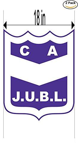 fan products of Club Atletico Juventud Unida Benito Legeren de Concordia Argentina Soccer Football Club FC 2 Stickers Car Bumper Window Sticker Decal Huge 18 inches