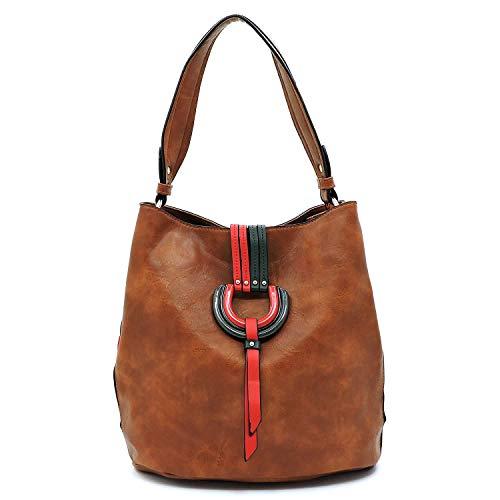 Ring Shoulder Bag Closure Bagblaze Hobo Brown Flap D nPva7wgxqB