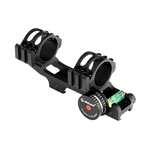 ohhunt 20 Moa Scope Mount with Angle Cosine Indicator Kit Bubble Level One-Piece Clip Picatinny Scope Rings fit 1 inch 30mm