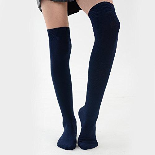 Navy Scolaire Couleurs Pour Haute De Chaussettes Et Variées Tailles 1 Fille Paire 7qP1HR