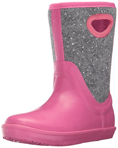 UGG Girls K Kex Sparkle Rain Boot, Pink Azalea, 1 M US Little Kid