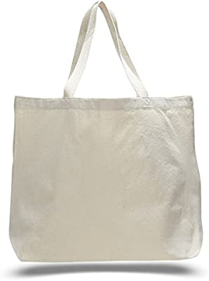 31944c642 Amazon.com: Natural Color Canvas Extra Large Tote Bag (10, Natural):  Kitchen & Dining