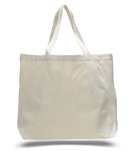 Natural Color Canvas Extra Large Tote Bag (10, Natural) - Canvas Girl Tote Bag Flower