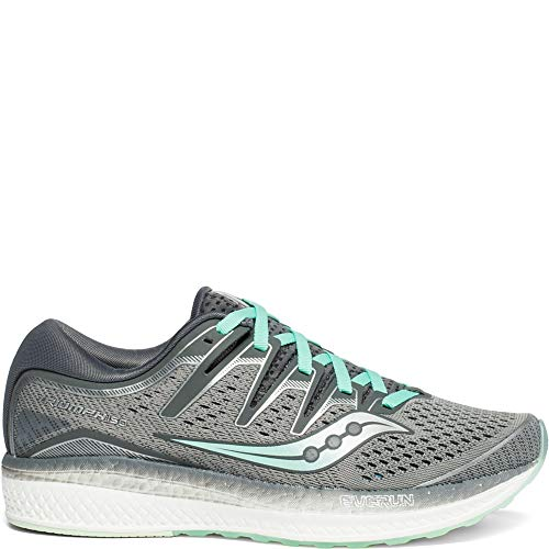 Saucony Women's Triumph ISO 5 Running Shoe, Grey/Aqua 8.5 M US
