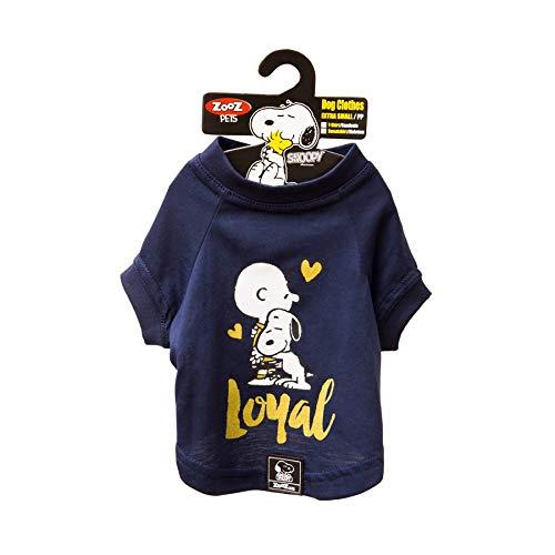 Camiseta Snoopy Charlie Zooz Pets para Cães Loyal Azul - Tamanho PP