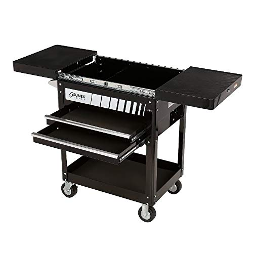 Sunex 8035 Compact Slide Top Utility Cart- Black