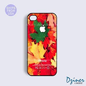 iPhone 4 4s Tough Case - Colorful Leaves Pattern iPhone Cover