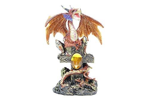 (GSC Fearsome Orange Dragon Guarding a Precious Treasure 5 Inches High 71352)