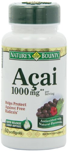 Nature's Bounty Acai 1000mg Softgels - 60ct, 0.21 Bottles (Pack of 2)