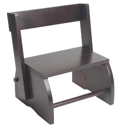 Buy gift mark large children's flip stool- espresso